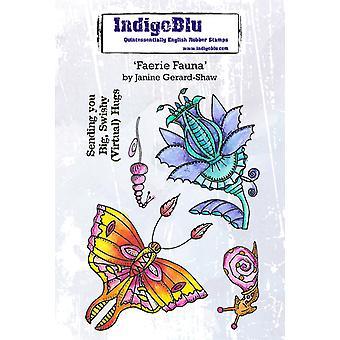 IndigoBlu Faerie Fauna A6 Gummi Frimerker