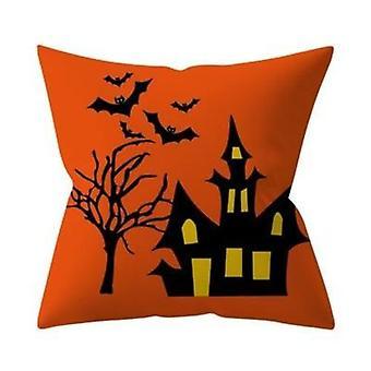 45*45cm Happy Halloween Throw Pillow Cover Horror Pillowcase