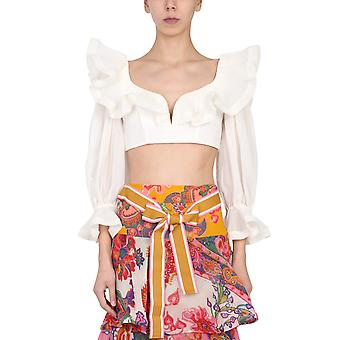 Zimmermann 9771tandnat Women's White Polyester Top