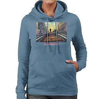 Ein amerikanischer Schwanz Fievel Mousekewitz Walking On Train Track Frauen's Kapuzen Sweatshirt