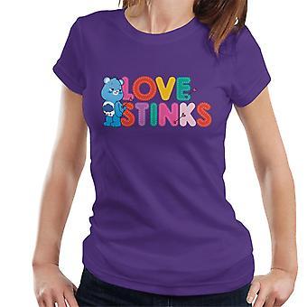 Hoitokarhut avaa Magic Valentines Grumpy Bear Love Stinks Women's T-paita