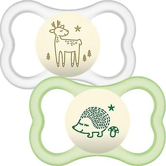 Mam air night latex soother unisex 6m+ 2pk