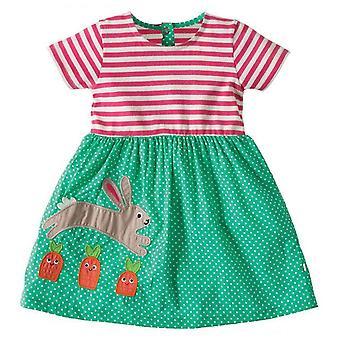 Party-Kleid, Kaninchen und Punkte Design, Kleinkind
