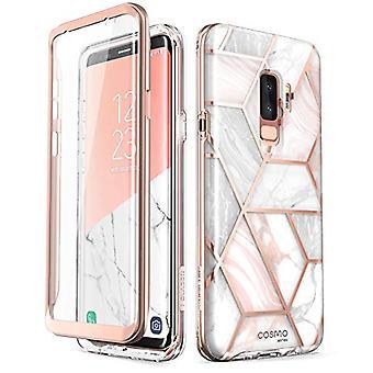 i-Blason Cosmo Caixa de Para-choques de corpo inteiro para Galaxy S9 Plus 2018 Lançamento, Mármore
