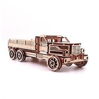自己組み立て木製トラックバーチトラックモデルギフト子供科学モデル構築キット