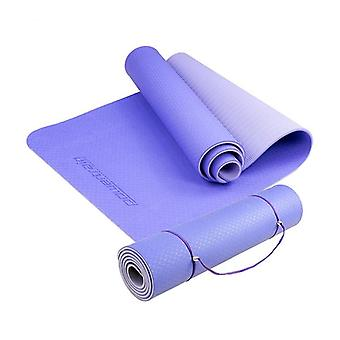 Miljövänlig tpe yogaövning pilates matta blå
