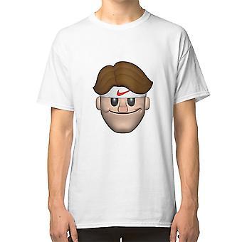 Sport Roger Federer Emoji T shirt Tennis