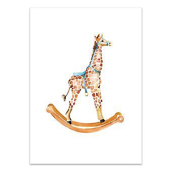 Art-Poster - Schommelende Giraf - Mercedes Lopez Charro
