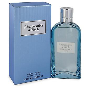 Första instinkt Blue Eau De Parfum Spray av Abercrombie & Fitch 3,4 oz Eau De Parfum Spray