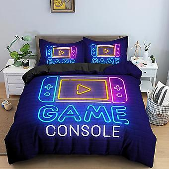 Gamer Duvet Cover, Cartoon King Queen Single Bedding Cover Set