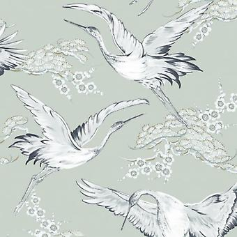 Crane Blue Wallpaper