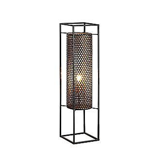 Floor Lamps , Black, Gold, 1x E27
