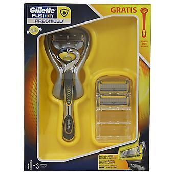 Gillette barberhøvel-Fushion Proshield + 3 påfyll