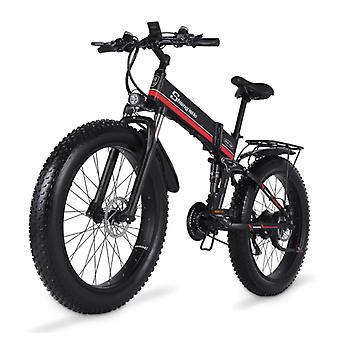 Shengmilo MX01 دراجة كهربائية قابلة للطي - على الطرق الوعرة الذكية E الدراجة - 500W - 12.8 آه البطارية - أحمر