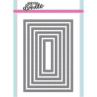 Heffy Doodle Metric Stitched Rectangles Dies