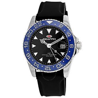 Seapro Agent Quartz Black Dial Men's Watch SP0122