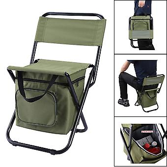 Portable Outdoor Folding Ice Pack Chair with Storage Bag with Backrest Insulation Function Leisure Camping Fishing Chair