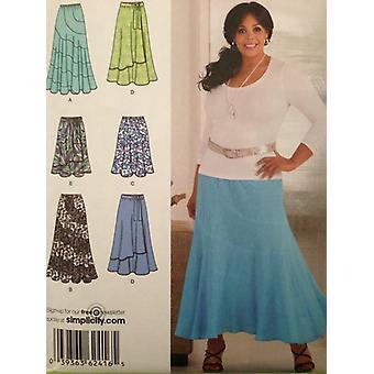 תבנית תפירה פשטות 2416 מתגעגע נשים חצאיות שני אורכים גודל 10-18 UC