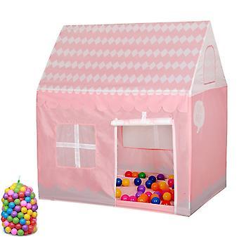 Kotitalous lapset tulostaa pelata teltta pieni peli talo, jossa 50 Ocean Balls (vaaleanpunainen)