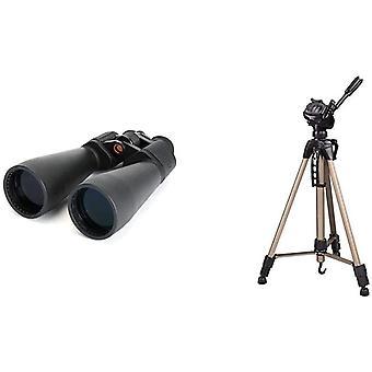 HanFei 71008 SkyMaster 25 x 70 Fernglas & Hama Kamera Stativ Star 61 (Leichtes Dreibeinstativ mit