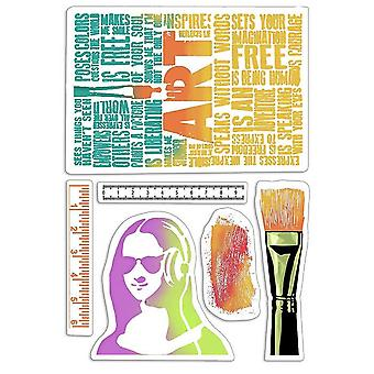 """Ciao Bella 4""""x6"""" Stamps - Art Rulers"""