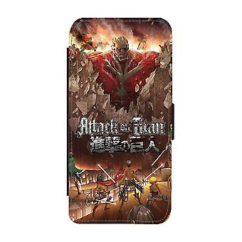 Manga Attack On Titan Samsung Galaxy A72 5G Wallet Case