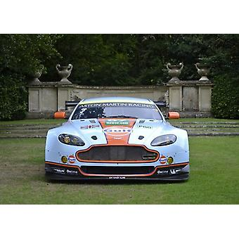 Aston Martin V8 Vantage GTE (Le Mans racecar) , 2013, Blue, Gulf livery. Large Framed Photo. Aston.