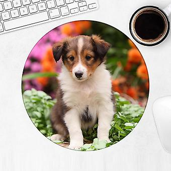 هدية Mousepad : الراعي الاسترالي جرو الزهور الكلب