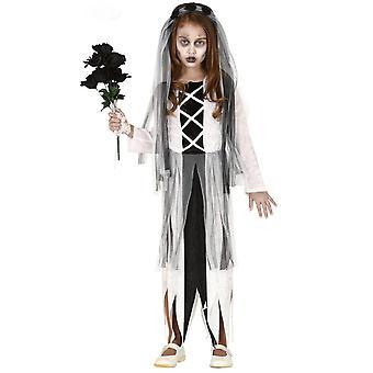 Vermomming bruid Zombie meisje