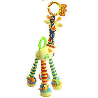 Cartoon Giraffe Rattle Toys With Sound Paper Bb Device Teether Plush Baby Hanging Toys Colorful Rattling Doll For Infant