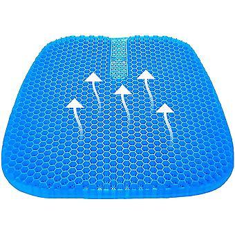 Gerui Gel Seat Cushion, Cool Gel Cushion, Breathable Lumbar Support Chair Cushion Tailbone Back Pain
