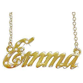 """L Emma - 18-karat forgyldt halskæde, med justerbar vedhæng fra 16 """"til 19"""", gratis gaveæske"""
