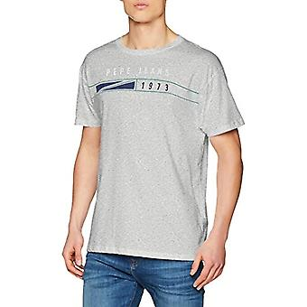 Pepe Jeans Pascal T-Shirt, (Grey Marl 933), Large Men