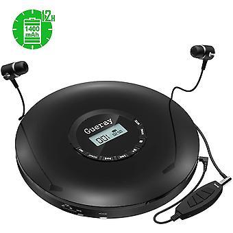 FengChun Lettore CD Portatile con Batteria al litio 1400 mAh incorporato