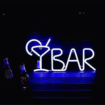 Bar Neon Sign Light Led Juice Letter Neon Lamp Tube med fjärr contral