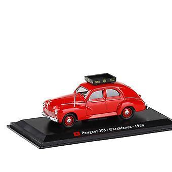 Hieno alkuperäinen 1:43 Peugeot 203 taksiseos malli, simulaatio die casting malli, kokoelma