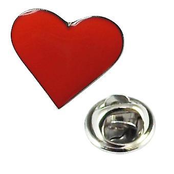 Liens Planète Amour Rouge Coeur Valentines Métal Émail Revers Pin Badge
