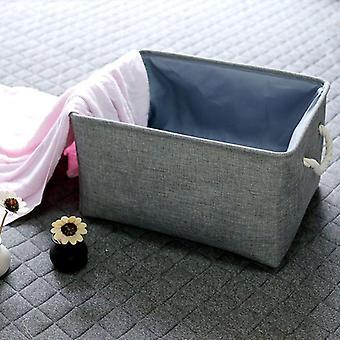 Fabric Organizer Books Toys Storage Basket With Handle Linen Storage Box|Foldable Storage Bags