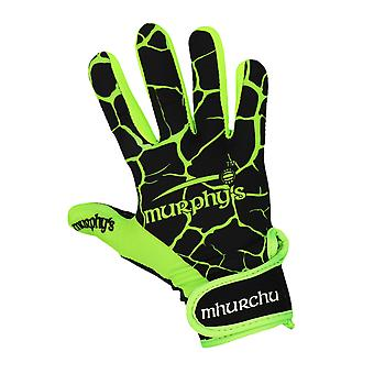 Murphy's Gaelic Gloves 8 / Small Black/Lime