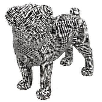 Silver Art Pug Standing By Leonardo