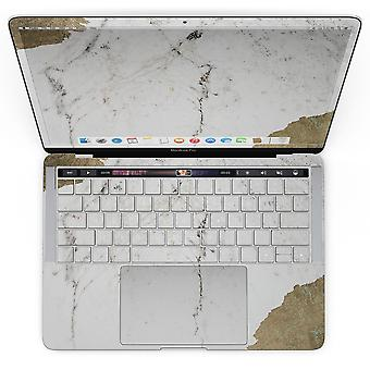 Gold Foiled Marble V2 - Macbook Pro With Touch Bar Skin Kit