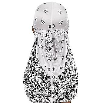 Unisex Print Silky Turban Bandanas Headwear Pirate Hat