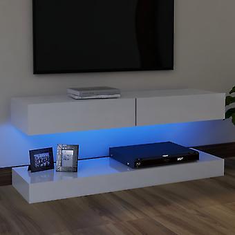 "vidaXL ארון טלוויזיה עם נורות LED מבריק לבן 120x35 ס""מ"