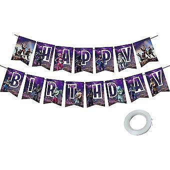 Video Game Partyzubehör, Videospiel Party Zubehör Happy Birthday Gaming Banner für Gaming Thema