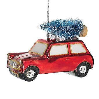Himlen skickar julglaskort dekoration