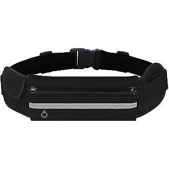 Running Belt Bum Bag Waterproof Adjustable Flip Belt For Men Women Outdoor Sports(Black)