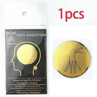 (1PC) Etiqueta para teléfonos celulares Anti Radiation Shield EMF EMR Protection Sticker Scalar Energy