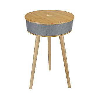 Clevinger wooden smart side table with wireless speaker
