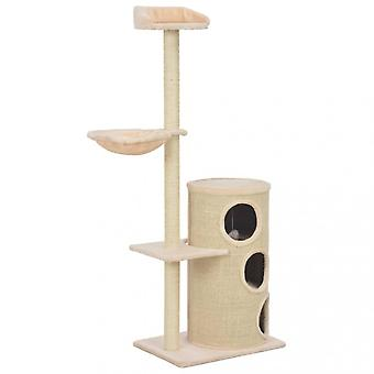 Chunhelife Cat Tree With Sisal Scratching Posts Beige 148 Cm