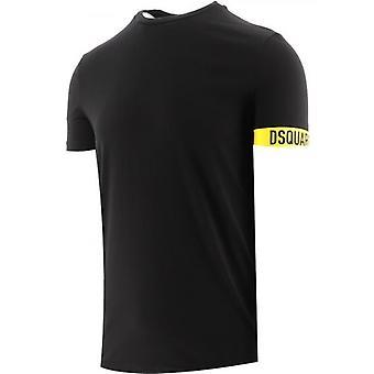 DSQUARED2 Musta Pyöreä Kaula T-paita